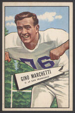 1952 BOWMAN LARGE #23 GINO MARCHETTI ROOKIE CARD COLTS USF DONS HOF