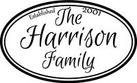 Custom Family Name Established vinyl wall decal quote sticker decor Personalized