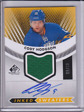 2012-13 SP Game Used Cody Hodgson Jersey Auto # 9/99 Inked Sweaters