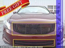 GTG 2008 - 2010 Honda Accord 4dr 3PC Gloss Black Combo Billet Grille Grill Kit