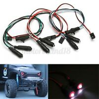 DIY LED Lights Headlight Axial Lamps Fit For 1/10 RC Rock Crawler SCX10 RC4WD