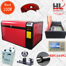 DSP RECI 100W Co2 Laser Engraving Cutting Machine CW 5000 Chiller Linear Guide