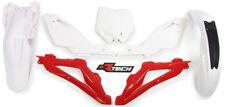 Racetech Plastics kit OEM RED WHITE. HUSQVARNA CR WR 125 2009-2013