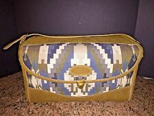 """VTG FRENCH LUGGAGE CO. """"AZTEC SOUTHWESTERN DESIGN"""" SUEDE & TAPESTRY TRAIN CASE"""