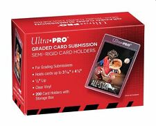 (200) Ultra-Pro Graded Card Submission Semi Rigid Holders Large Size For Grading