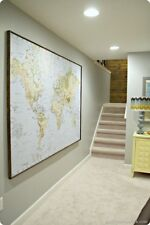 BRAND NEW - 70119430 Premiar IKEA Large World Map  Atlas Canvas  701.194.30