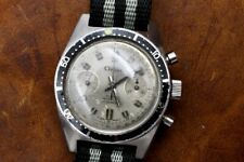 Clebar Stainless Diver 17J Landeron 248 Movement Chronograph Watch Serviced!