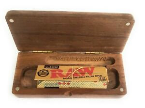 Pocket Size Natural Wood Stash Box w/RAW Papers