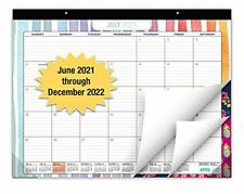 Desk Calendar 2021 2022 Large Monthly Pages 22x17 Runs From June 2021 T