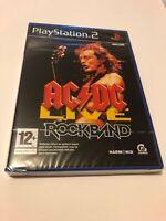 😍 jeu playstation 2 ps2 neuf blister officiel pal fr rock band acdc live