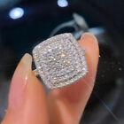 925 Silver Rings Luxury Cubic Zirconia Jewelry For Women Wedding Rings Size 6-10