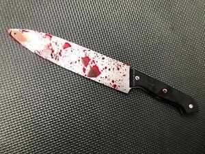 Bloody Knife 30cm Halloween Realistic Plastic Weapon Horror Blade Fancy Dress