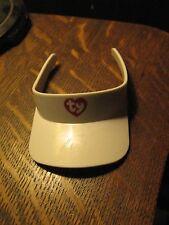 Ty Plush Toys Beanie Babies Bears Stuffed Animal White Tennis Golf Visor Hat