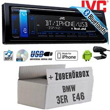 BMW 3er E46 JVC Autoradio Bluetooth CD MP3 USB KFZ PKW Radio Set Android iPhone