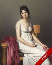 YOUNG WOMAN GIRL IN A WHITE DRESS PAINTING CLASSIC FRENCH ART REAL CANVAS PRINT