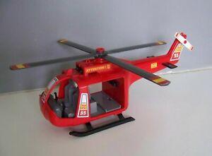 PLAYMOBIL (G511) POMPIERS - Hélicoptère des Secours Rouge 4428