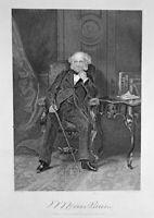 President MARTIN VAN BUREN Panic of 1837 Free Soil Party ~ 1862 Print Engraving