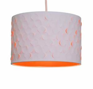 3D Flower Contemporary White and Orange Easy Fit Ceiling Light shade