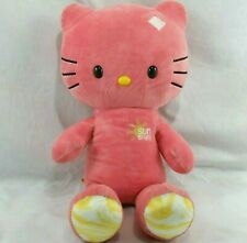 Build A Bear Hello Kitty Pink Plush Sunshine Yellow Feet Soft Toy Sanrio 2013