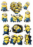 DESPICABLE ME STICKER WALL DECAL DECO  MINIONS LOT
