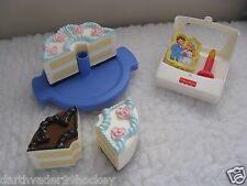 FISHER PRICE FUN FOOD ● MUSICAL CAKE WEDDING BIRTHDAY CANDLE 2 IN 1  REVERSIBLE