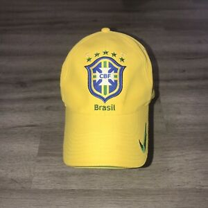 Brasil Football CBF Nike Dri-Fit Adult OSFA Strapback Hat Cap Soccer Brazil