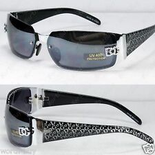New DG Eyewear Womens Fashion Rimless Designer Sunglasses Shades Silver Black