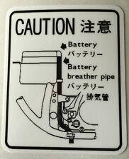 SUZUKI GS750 BATTERY CAUTION WARNING DECAL LABEL