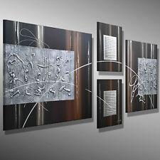 SCHWARZ SILBER SCHLAGMETALL C. GOETHE KUNST MALEREI ART BILDER Sideboard 150x60