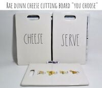 "Rae Dunn Cheese Cutting Board CHEESE SERVE ""YOU CHOOSE"" NEW HTF RARE '18"