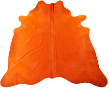 Cowhide Bullhide Orange Colored 90 5/8x86 5/8in