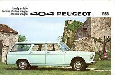 PEUGEOT 404 BROCHURE 1968
