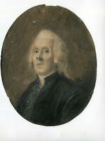 18th Miniature Portrait Painting, Portrait Gentleman, Miniature Antique
