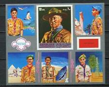 39124) Sharjah 1963 MNH New Scout Baden Powel S/S Imperforated