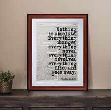 FRIDA KAHLO  QUOTE DICTIONARY PAGE ART PRINT Vintage Antique literary gift