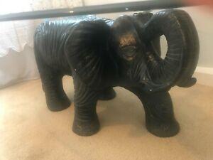 Elephant Coffee table oval glass