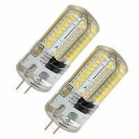 2-Pack HQRP 3W G4 Bi-Pin Base 72 LEDs Cool White 6000-6500K 350-400Lm Light Bulb