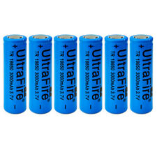 6pcs 3000mah 3.7V 18650 Rechargeable Li-ion Flat Top Battery Flat Head For Vape