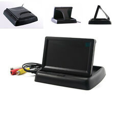 "4.3"" Fold-up TFT Monitor Screen Car SUV Driving Monitor Rearview Reverse Parking"