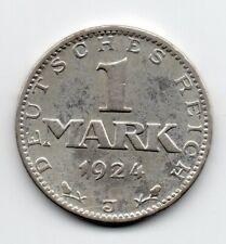 Germany - Duitsland - 1 Mark 1924 J