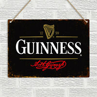 GUINNESS STOUT Metal Tin Wall Sign Plaque Vintage Retro Beer Pub Bar Man Cave