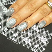 Holographic Lace Flower Foils Wraps Nail Art Transfer Sticker 3D Nail Decoration