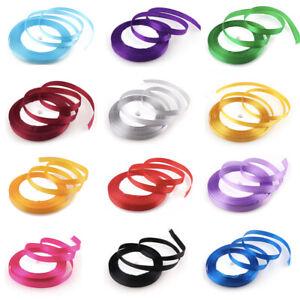 22 Metres Satin Ribbon (Rolls) 6mm 10mm 20mm 25mm FULL ROLLS Ribbon Gift Wrap