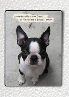 "BOSTON TERRIER DOG BEST FRIEND FRIDGE MAGNET 3"" x 4""-omn7Z"