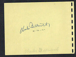 Charles Butterworth (d. 1946) signed autograph 4x5 Album Page This is the Army