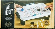 """Portable Air Hockey Tabletop Game NEW Battery Operated Fun Motorized Mini 16"""""""
