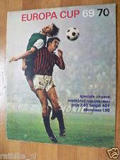 1969-70 EUROPA CUP VOETBAL,SOCCER,FOOTBALL,MILAN,ROMA,SCHALKE,LEEDS,MANCHESTER,