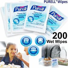 200 x PURELL WIPES - Anti Bacterial Hand Wet One Individually Wrapped Sachets