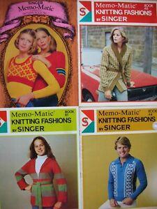 4 Pattern Books x Memo-Matic KNITTING FASHIONS by Singer - Nos 7, 44, 48 & 61 GC