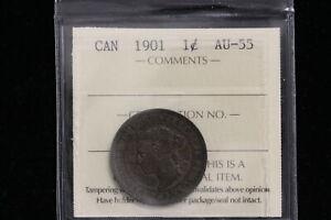 1901 Canada. One Cent. ICCS Graded AU-55 (XXT816)